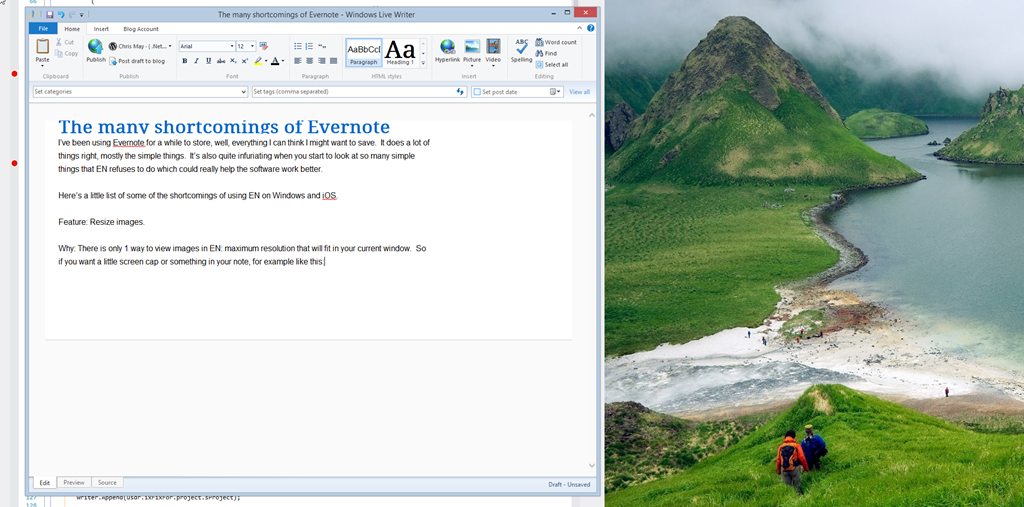 The many shortcomings of Evernote | Chris May