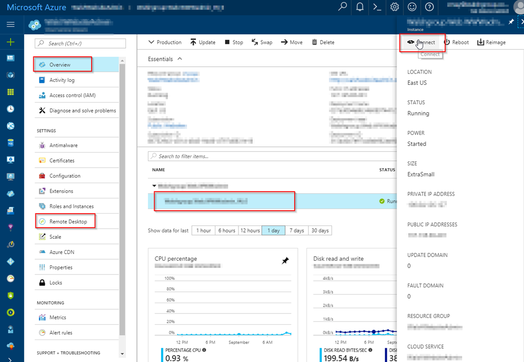 How to RDP into an Azure Cloud Services (classic) VMs